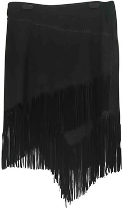Polo Ralph Lauren Black Leather Skirts