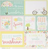 "Echo Park Paper Spring Double-Sided Cardstock 12""X12""-Journaling Cards"