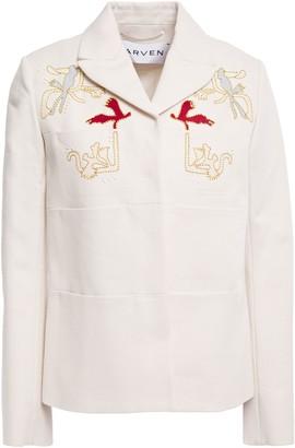 Carven Embellished Embroidered Cotton Jacket