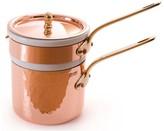 Mauviel Copper Double Boiler with Insert, 1-Qt.