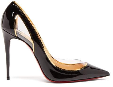 Christian Louboutin Cosmo 554 100 Patent Leather Pumps - Womens - Black