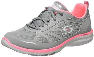 Skechers Women's Galaxies-Enigma Trainers, (Grey/Coral)