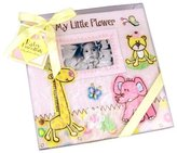 """Baby Essentials Large Baby Pink Zoo Animals Baby Photo Album - Holds 200 photos (4"""" x 6"""") by"""