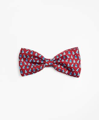 Brooks Brothers Boys Winter Hat Pre-Tied Bow Tie