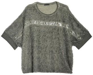 Lola Made In Italy Metallic Mohair Knit Dolman Sleeve Top