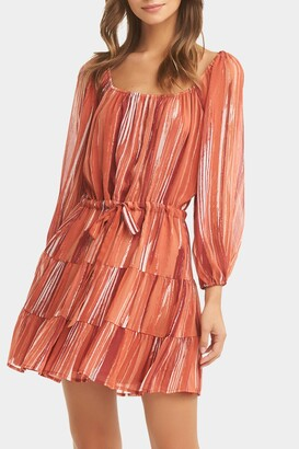 Tart River Striped Tiered Mini Dress