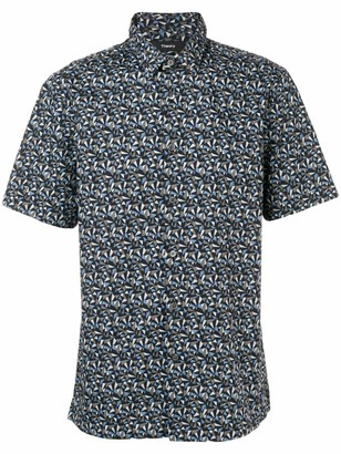 Theory Irving optic print shirt