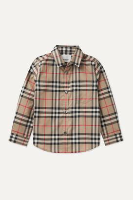 Burberry Checked Cotton-poplin Shirt - Beige