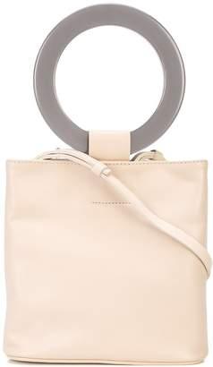 Modern Weaving mini circle-handle bucket bag