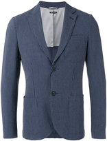 Giorgio Armani Fantasia striped seersucker blazer - men - Cotton/Polyester/Spandex/Elastane/Virgin Wool - 52