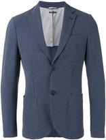 Giorgio Armani Fantasia striped seersucker blazer - men - Cotton/Spandex/Elastane/Virgin Wool/Polyester - 52