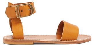 K. Jacques Carbet Leather Sandals - Tan