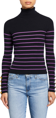 A.L.C. Desi Striped Turtleneck Sweater