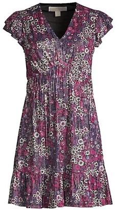MICHAEL Michael Kors Zinnia Ruched Mini Dress