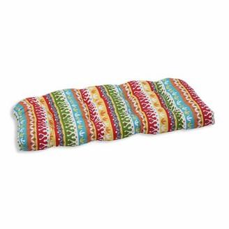 Bungalow Rose Indoor/Outdoor Loveseat Cushion Color: Garden