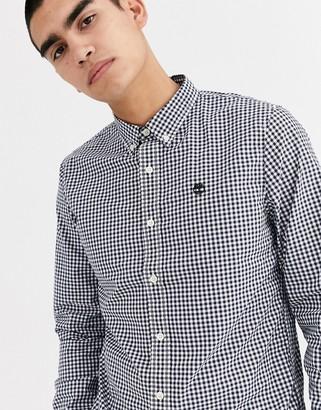 Timberland gingham long sleeve shirt-Blue
