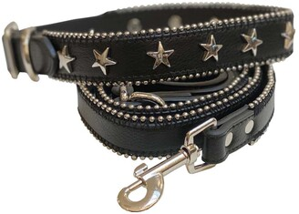 Dogs Of Glamour Designer Leather Alexander Collar & Leash Set - Medium