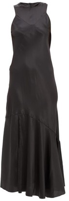 Ann Demeulemeester Silk-blend Satin Maxi Dress - Black