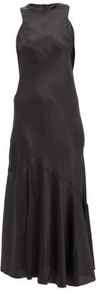 Ann Demeulemeester Silk-blend Satin Maxi Dress - Womens - Black
