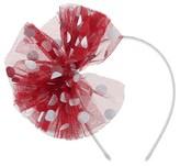 Cat & Jack Toddler Girls' Mesh Metallic Dot Bow Headband Cat & Jack - Red & Silver