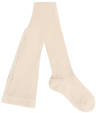 Caramel Child Rib cotton-blend tights