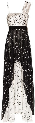 Silvia Tcherassi One-Shoulder Polka-Dot Dress