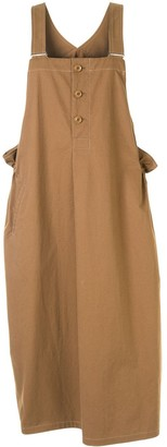 Y's Slouchy Pinafore Dress