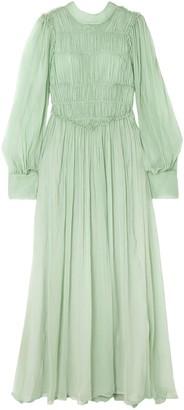 Stella McCartney Ruffled Shirred Silk-chiffon Gown