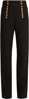 Burberry Button-embellished high-rise trousers