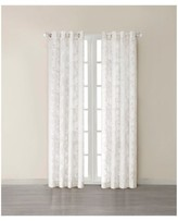 "Nobrand No Brand Flor Paisley Burn-Out Sheer Curtain Panel - White (50""x95"")"