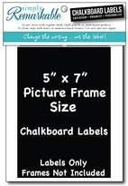 "Picture Frame Size Chalkboard Labels Chalk Stickers Simply Remarkable (2, 5"" x 7"")"