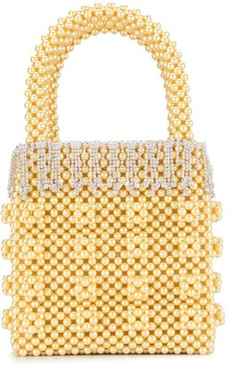Shrimps Huckleberry faux pearl tote bag