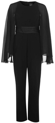 Adrianna Papell Long Sleeve Cape Jumpsuit