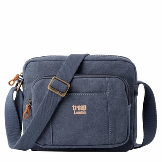 Troop London TRP0235 Classic Canvas Across Body Bag Canvas Bag Smaller than A4