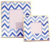 The Well Appointed House Dana Gibson Blue Bargello Picture Frame-Available in Two Different Sizes-SMALL FRAME ON BACKORDER UNTIL MID-JUNE 2016