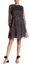 Cynthia Rowley Metallic Dot Party Dress