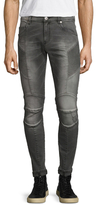 Pierre Balmain Fading Curved Pocket Skinny Jeans