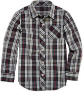 Arizona Boys Long Sleeve Woven Shirt - Preschool 4-7