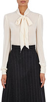 Saint Laurent Women's Tieneck Blouse-BEIGE, WHITE, IVORY