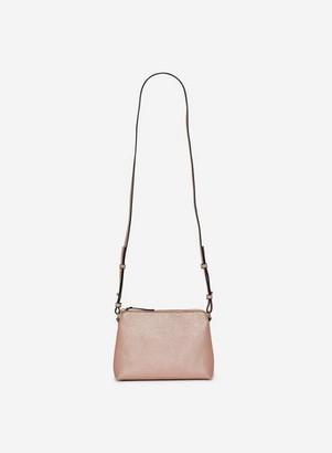 Dorothy Perkins Womens Rose Gold Zip Top Cross Body Bag, Rose Gold