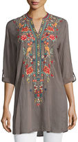 Johnny Was Garden Embroidered Eyelet Tunic