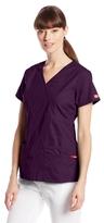 Dickies Women's EDS Signature Series Scrubs Junior-Fit Mock-Wrap Top