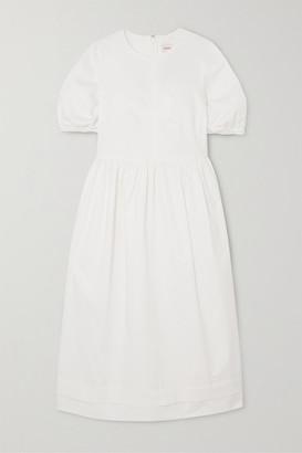 &Daughter Dawn Stretch-cotton Twill Midi Dress
