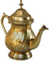 One Kings Lane Vintage Brass Teapot with Ornate Details