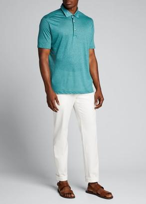 Loro Piana Men's Linen Jersey Dublon Polo Shirt