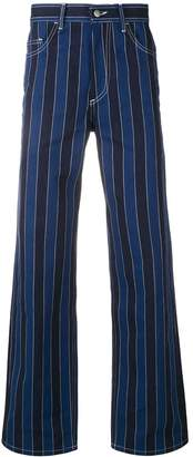 Ex Infinitas pinstripe flared jeans