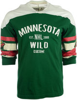 CCM Men's Long-Sleeve Minnesota Wild Applique T-Shirt