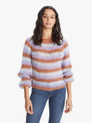 Maiami Mohair Striped Sweater - Fawn/Lavender/Ice Blue