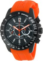 Nautica Men's Nst 15 N21026G Orange Silicone Quartz Watch with Dial