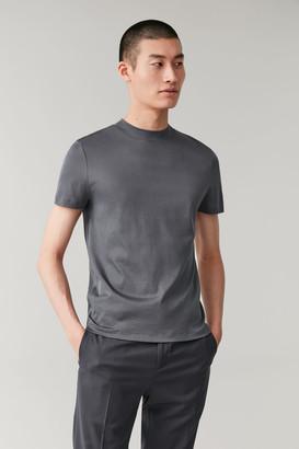 Cos Mock-Neck Cotton T-Shirt